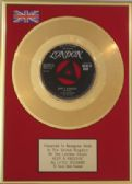 "LITTLE RICHARD  - 24 Carat 7"" Gold Disc  -   KEEP A KNOCKIN'"